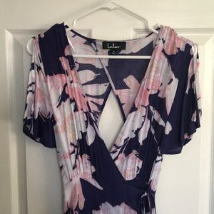 Floral Tie Maxi Dress